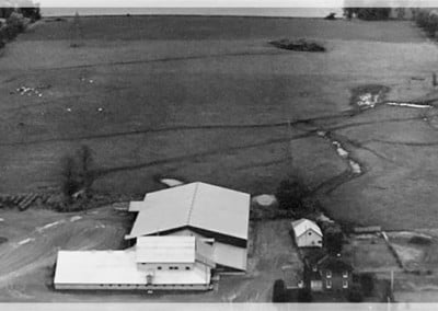 Aerial shot of Hoards Station